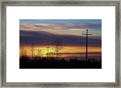 Just Driving Along Framed Print