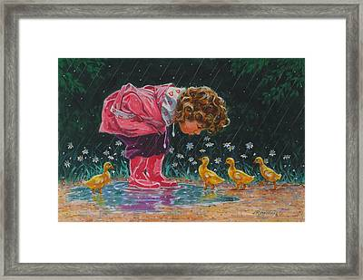 Just Ducky Framed Print by Richard De Wolfe