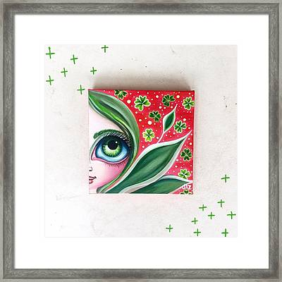 Just Finished This Little Fairy. St Framed Print by Jaz Higgins