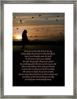 Just Fly Away Framed Print by Stephanie Laird