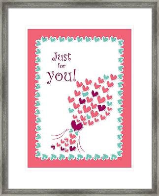 Just For You Framed Print by Hye Ja Billie