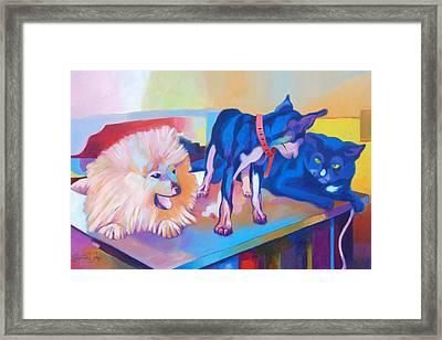 Just Friends  Framed Print