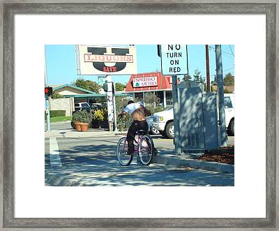 Just Funny Framed Print by Roman Lezo