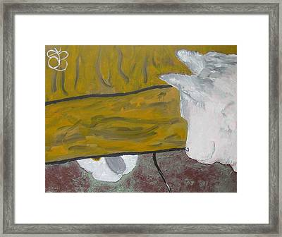 Framed Print featuring the painting Just Get Mom by A J Brown