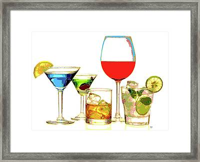 Just Give Me A Drink Framed Print by Charles Shoup
