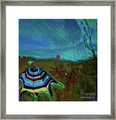 Fauve Just Glamping Framed Print
