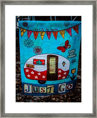Just Go  Framed Print