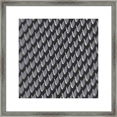 Just Grate Abstract Pattern With Heather Background Framed Print