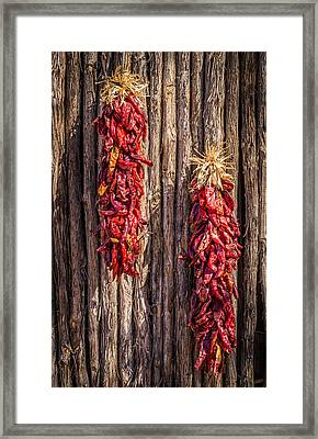 Just Hanging Around - New Mexico Chile Ristra Photograph Framed Print