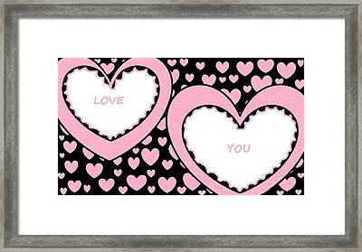 Just Hearts 2 Framed Print by Linda Velasquez