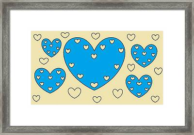 Just Hearts 4 Framed Print by Linda Velasquez