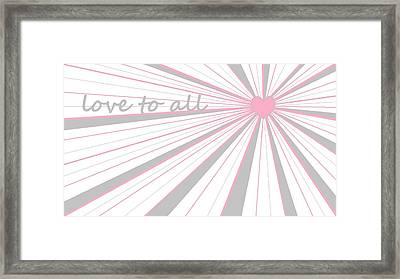 Just Hearts 5 Framed Print by Linda Velasquez