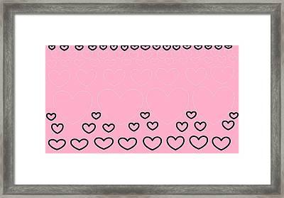 'just Hearts 8' Framed Print