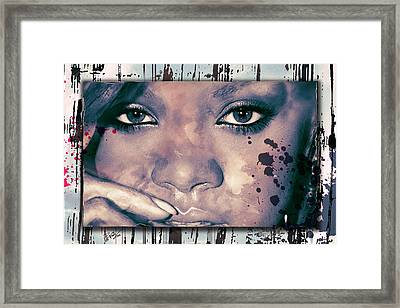 Just Her Eyes Framed Print by Michael Fuchs