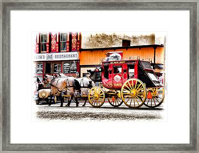 Just Horsin Around Framed Print by Lana Trussell