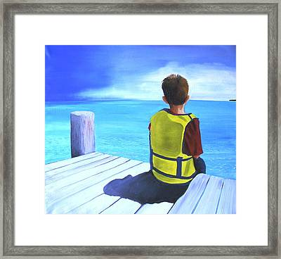 Just In Case Framed Print