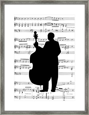 Just Jazz - Double Bass Framed Print by Di Kaye