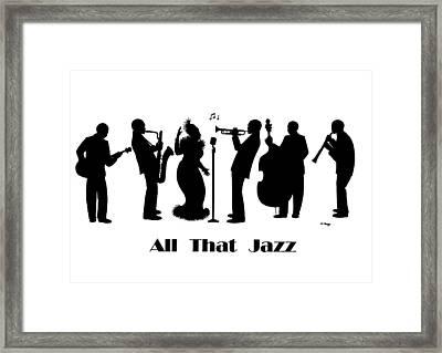 Just Jazz - The Band Framed Print by Di Kaye