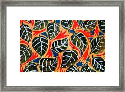 Just Leaves Framed Print