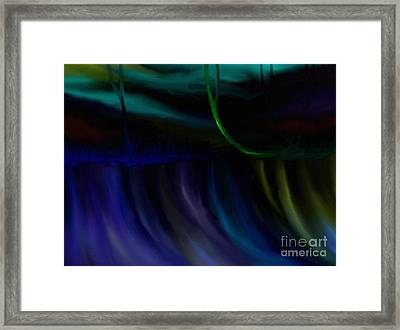 Framed Print featuring the painting Just Like A Waterfall by Rushan Ruzaick