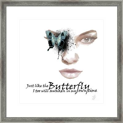 Just Like The Butterfly Framed Print