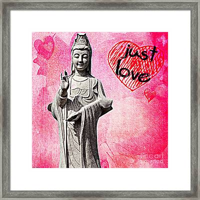 Framed Print featuring the mixed media Just Love by Lita Kelley