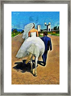 Just Married - Da Framed Print by Leonardo Digenio