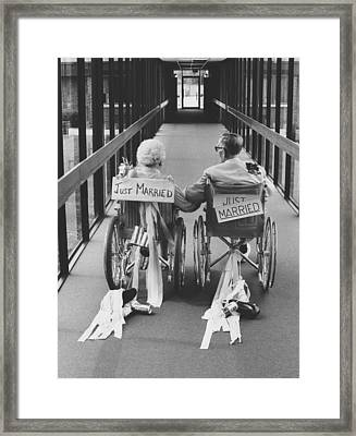 Just Married Framed Print by Jim Wright