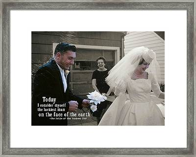 Just Married Today Quote Framed Print by JAMART Photography