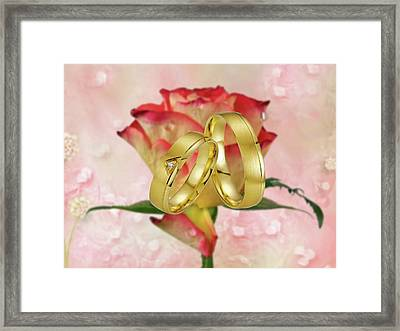 Just Married-wedding, Framed Print by Manfred Lutzius