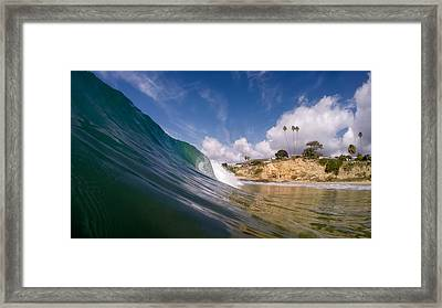 Just Me And The Waves Framed Print by Sean Foster