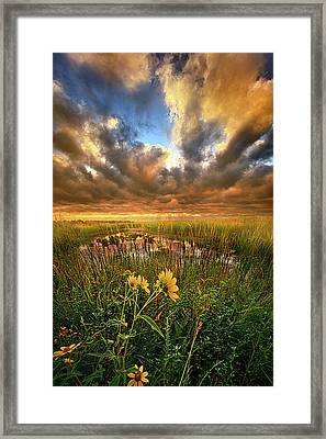 Just Moving Slow Framed Print by Phil Koch