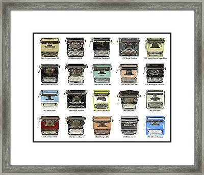 Just My Type Framed Print by Keith Broadhurst