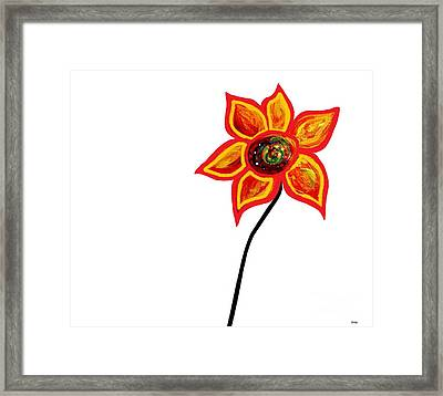 Just One Abstract Flower Framed Print
