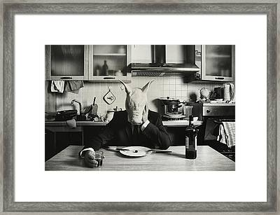 Just One Day Alone (family Portrait) Framed Print