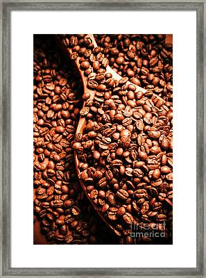 Just One Scoop At The Coffee Brew House  Framed Print