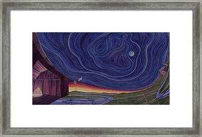 Just Outside The Barn Framed Print by Scott Kirby