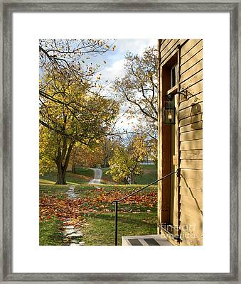 Just Outside The Door Framed Print by Angie Bechanan