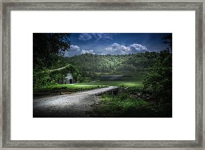 Just Over The Bridge Framed Print