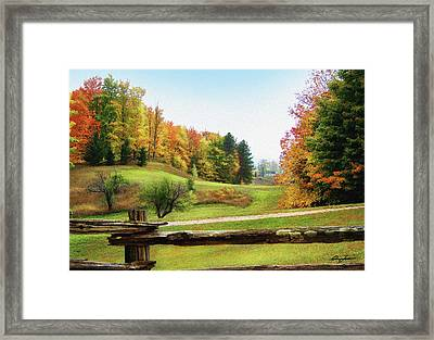 Just Over The Next Ridge Framed Print