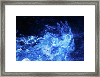 Just Passing By - Blue Art Photography Framed Print by Modern Art Prints