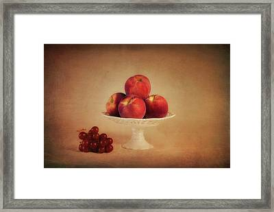 Just Peachy Framed Print by Tom Mc Nemar