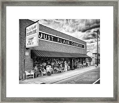 Just Plain Country  Framed Print