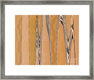Just Planed Marbled Woodgrain Framed Print
