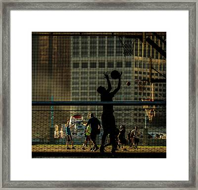 Just Playing In The Park Framed Print