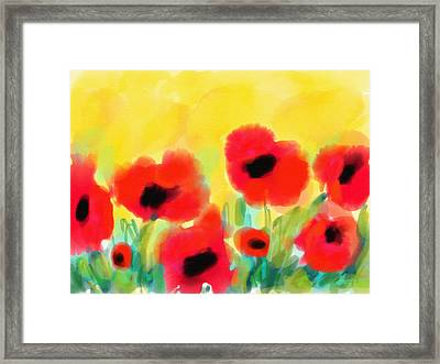 Just Poppies Framed Print