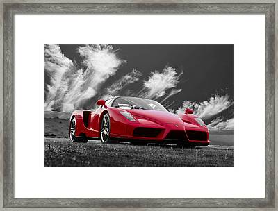 Just Red 2 2002 Enzo Ferrari Framed Print by Scott Campbell