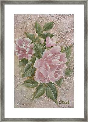 Framed Print featuring the painting Just Roses by Chris Hobel