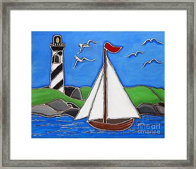 Just Sailing By Framed Print