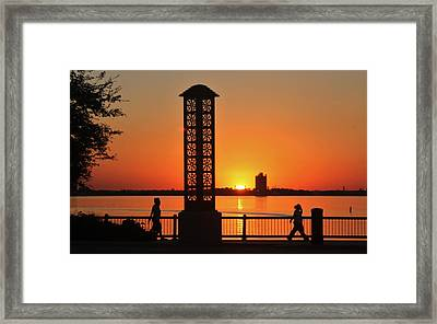 Just Sit And Enjoy Framed Print by John Glass